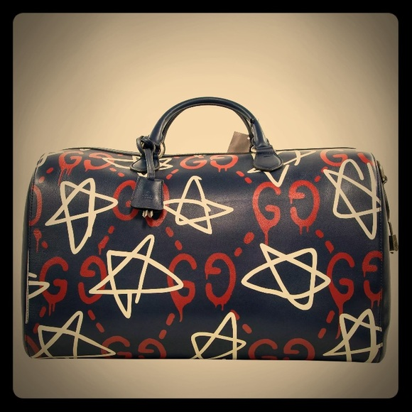 de7772136cdc Gucci Bags | Saleomnew Ghost Duffle Travel Bag | Poshmark